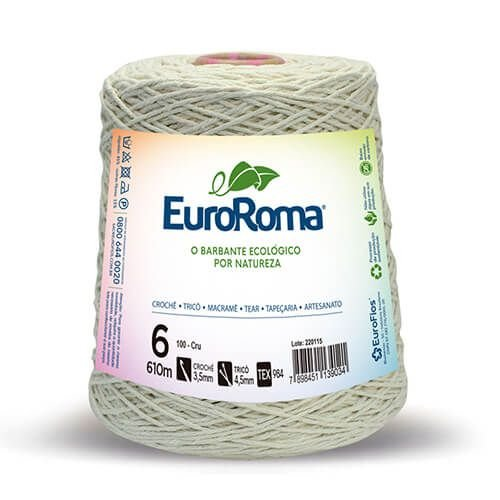 Barbante EuroRoma Cru 6 fios 610 metros