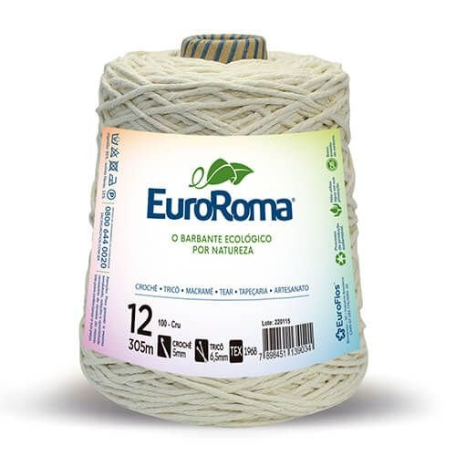 Barbante EuroRoma Cru 12 fios 305 metros
