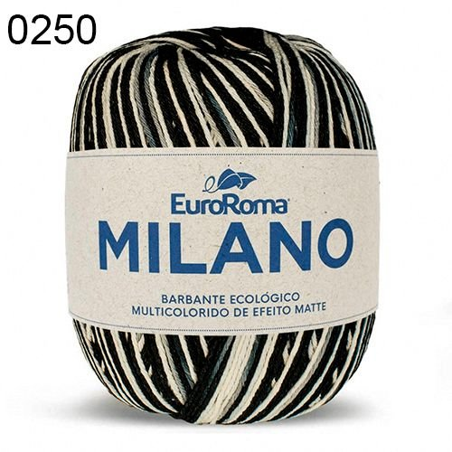 Barbante Milano 200gr Cor 250 Preto EuroRoma