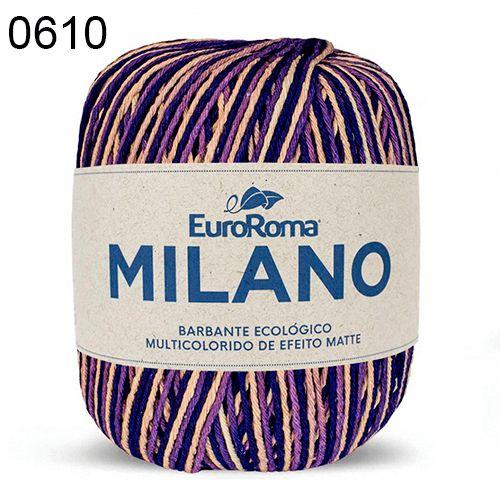 Barbante Milano 200gr Cor 610 Roxo EuroRoma