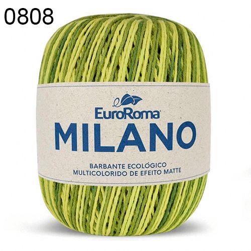 Barbante Milano 200gr Cor 808 Verde Oliva EuroRoma