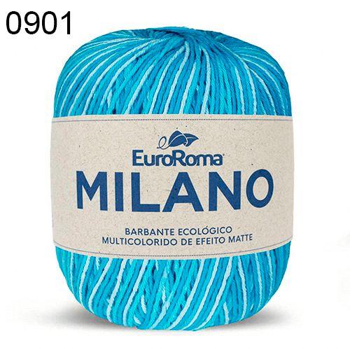 Barbante Milano 200gr Cor 901 Azul Piscina EuroRoma