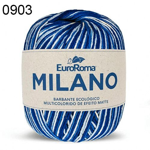 Barbante Milano 200gr Cor 903 Azul Royal EuroRoma