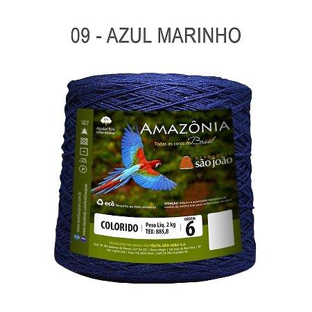 Barbante Amazônia 6 fios Cor 9 Azul Marinho 2 kg