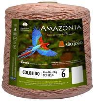 Barbante Amazônia 6 fios Cor 10 Salmão 2 kg - São João