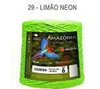Barbante Amazônia 6 fios Cor 29 Limão Neon 2 kg - São João