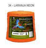 Barbante Amazônia 6 fios Cor 34 Laranja neon 2 kg - São João