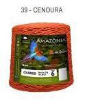 Barbante Amazônia 6 fios Cor 39 Cenoura 2 kg - São João