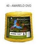 Barbante Amazônia 6 fios Cor 40 Amarelo Ovo 2 kg - São João