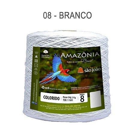 Barbante Amazônia 8 fios Cor 8 Branco 2 kg