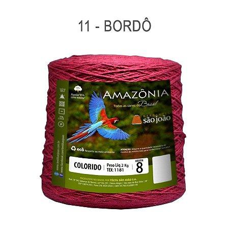 Barbante Amazônia 8 fios Cor 11 Bordô 2 kg - São João