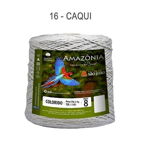 Barbante Amazônia 8 fios Cor 16 Caqui 2 kg