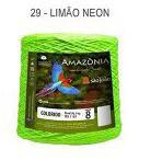 Barbante Amazônia 8 fios Cor 29 Limão Neon 2 kg