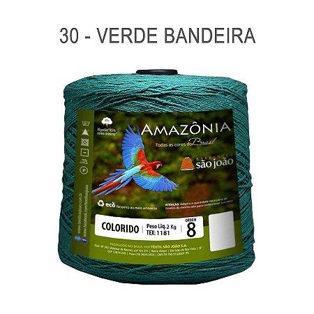 Barbante Amazônia 8 fios Cor 30 Verde Bandeira 2 kg