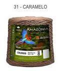 Barbante Amazônia 8 fios Cor 31 Caramelo 2 kg