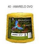 Barbante Amazônia 8 fios Cor 40 Amarelo Ovo 2 kg