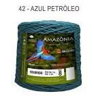 Barbante Amazônia 8 fios Cor 42 Azul Petróleo 2 kg