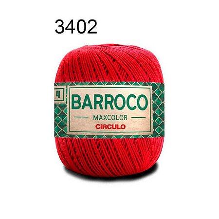 Barbante Barroco 4 Cor 3402 Vermelho (590 Tex) 200gr - Círculo