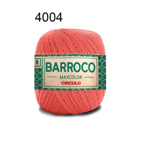 Barbante Barroco 4 Cor 4004 Coral Vivo (590 Tex) 200gr - Círculo