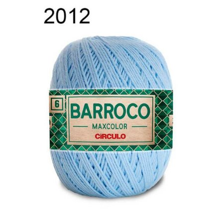 Barbante Barroco Maxcolor 6 Cor 2012 Azul Candy (885 Tex) 200gr - Círculo