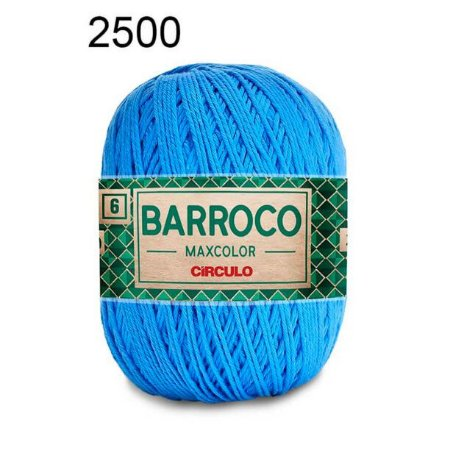 Barbante Barroco Maxcolor 6 Cor 2500 Acqua (885 Tex) 200gr - Círculo