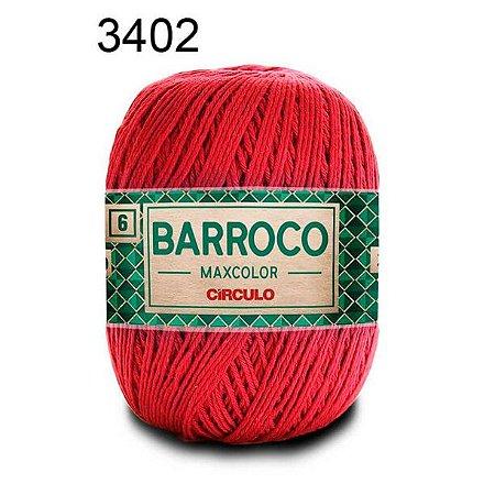 Barbante Barroco Maxcolor 6 Cor 3402 Vermelho  (885 Tex) 200gr - Círculo