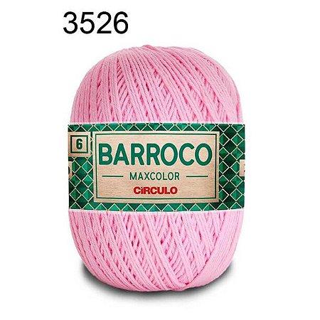 Barbante Barroco 6 Cor 3526 Rosa Candy  (885 Tex) 200gr - Círculo