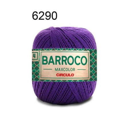 Barbante Barroco Maxcolor 4 Cor 6290 Púrpura (590 Tex) 200gr - Círculo
