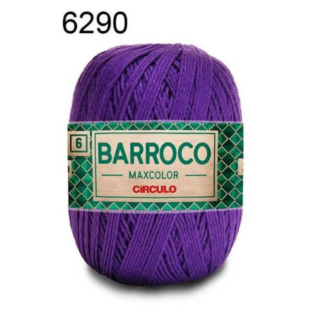Barbante Barroco Maxcolor 6 Cor 6290 Purpura  (885 Tex) 200gr - Círculo