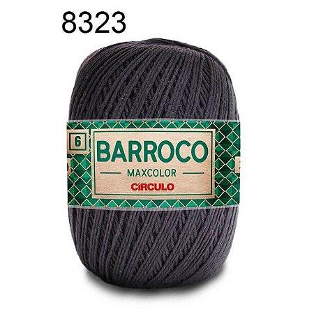 Barbante Barroco 6 Cor 8323 Cinza Onix  (885 Tex) 200gr - Círculo