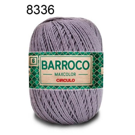 Barbante Barroco 6 Cor 8336 Cinza Chumbo  (885 Tex) 200gr - Círculo