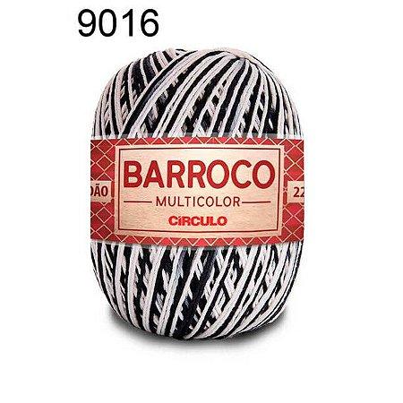 Barbante Barroco Multicolor 6 fios Cor 9016 Zebra 226 Metros 200 Gramas