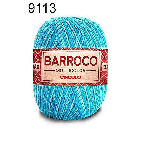 Barbante Barroco Multicolor 6 fios Cor 9113 Cascata 226 Metros 200 Gramas