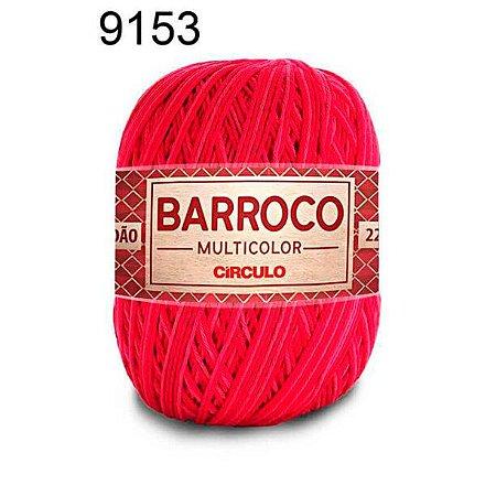 Barbante Barroco Multicolor 6 fios Cor 9153 Cabaré 226 Metros 200 Gramas