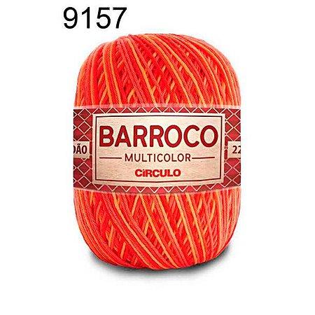 Barbante Barroco Multicolor 6 fios Cor 9157 Pitanga 226 Metros 200 Gramas
