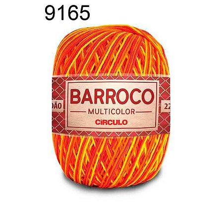 Barbante Barroco Multicolor 6 fios Cor 9165 Hibisco Amarelo 226 Metros 200 Gramas