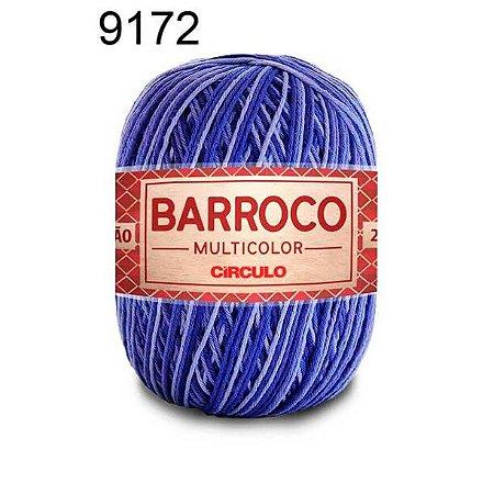 Barbante Barroco Multicolor 6 fios Cor 9172 Amuleto 226 Metros 200 Gramas