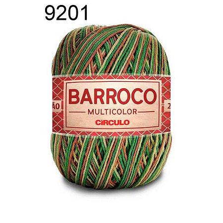 Barbante Barroco Multicolor 6 fios Cor 9201 Floresta 226 Metros 200 Gramas