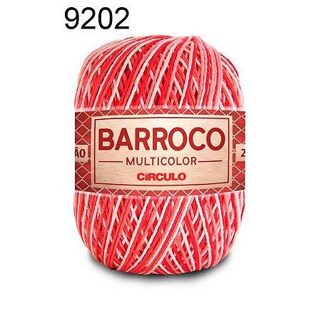 Barbante Barroco Multicolor 6 fios Cor 9202 Antúrio 226 Metros 200 Gramas