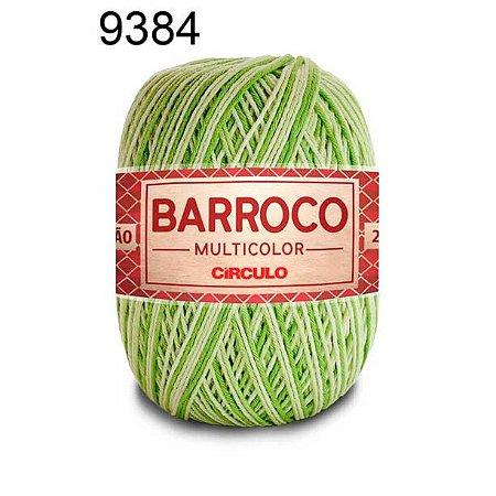 Barbante Barroco Multicolor 6 fios Cor 9384 Greenery 226 Metros 200 Gramas