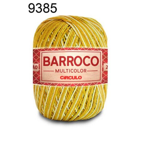 Barbante Barroco Multicolor 6 fios Cor 9385 Acaparra 226 Metros 200 Gramas