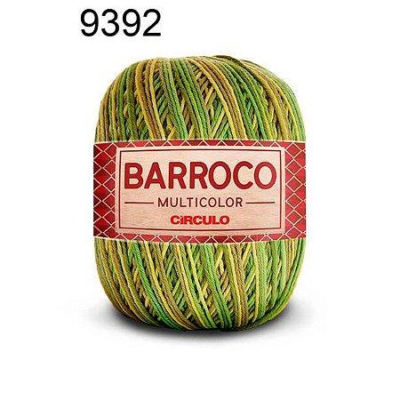 Barbante Barroco Multicolor 6 fios Cor 9392 Folha 226 Metros 200 Gramas