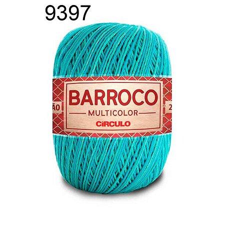 Barbante Barroco Multicolor 6 fios Cor 9397 Tiffany 226 Metros 200 Gramas