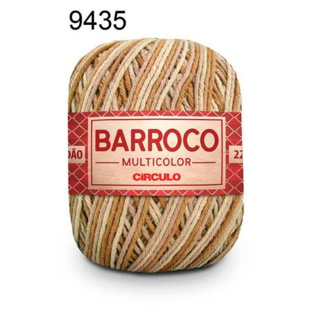 Barbante Barroco Multicolor 6 fios Cor 9435 Deserto 226 Metros 200 Gramas