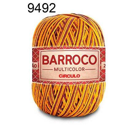 Barbante Barroco Multicolor 6 fios Cor 9492 Girassol 226 Metros 200 Gramas