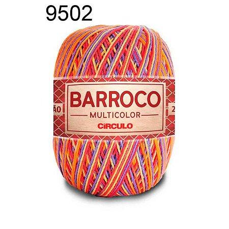 Barbante Barroco Multicolor 6 fios Cor 9502 Hawai 226 Metros 200 Gramas