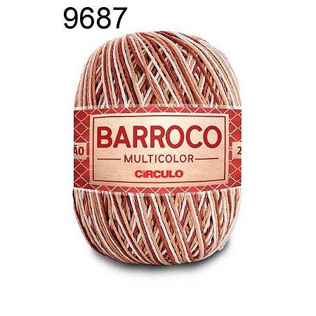 Barbante Barroco Multicolor 6 fios Cor 9687 Caravela 226 Metros 200 Gramas