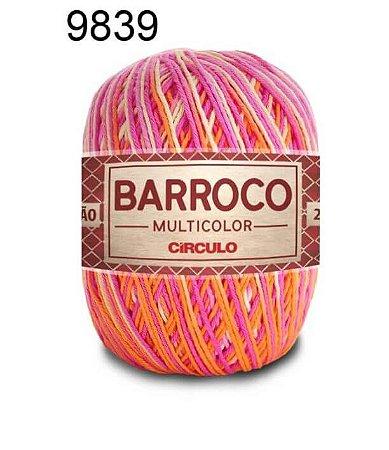 Barbante Barroco Multicolor 6 fios Cor 9839 Gelatina 226 Metros 200 Gramas