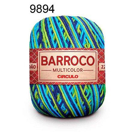 Barbante Barroco Multicolor 6 fios Cor 9894 Pavão 226 Metros 200 Gramas