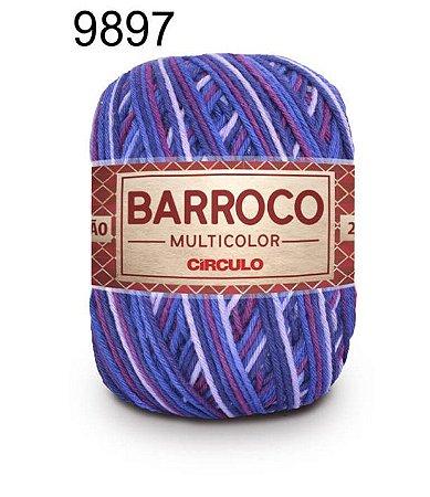 Barbante Barroco Multicolor 6 fios Cor 9897 Fabula 226 Metros 200 Gramas